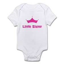 Little Sister Princess Crown Infant Bodysuit
