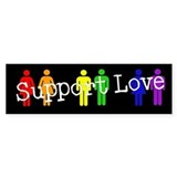 Support Love Bumper Bumper Sticker