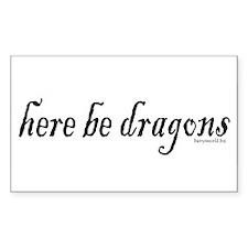 Dragons 1 Rectangle Sticker 10 pk)