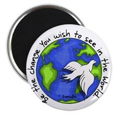 World Peace Gandhi - 2008 Magnet