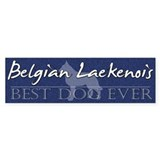 Best Dog Ever Belgian Laekenois Bumper Bumper Sticker