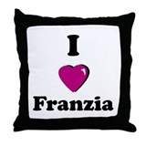 Cute Box wine Throw Pillow