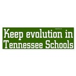 Evolution in Tennessee Bumper Sticker