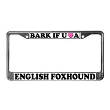 Bark Love An English Foxhound License Plate Frame