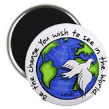 World Peace Gandhi - Funky Stroke Magnet