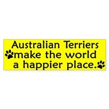 Happy Place Australian Terrier Bumper Bumper Sticker