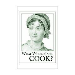 Jane Austen WWJ Cook Mini Poster Print
