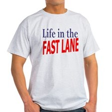 Fast Lane Ash Grey T-Shirt