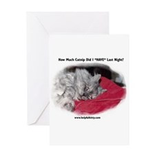 Hungover Helpful Kitty Greeting Card