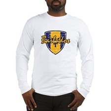 Barbados distressed flag Long Sleeve T-Shirt