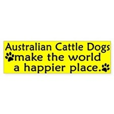 Happy Place Australian Cattle Dog Bumper Bumper Sticker