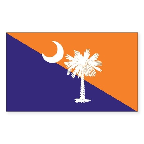 Orange Purple SC Flag Rectangle Sticker 10 pk)