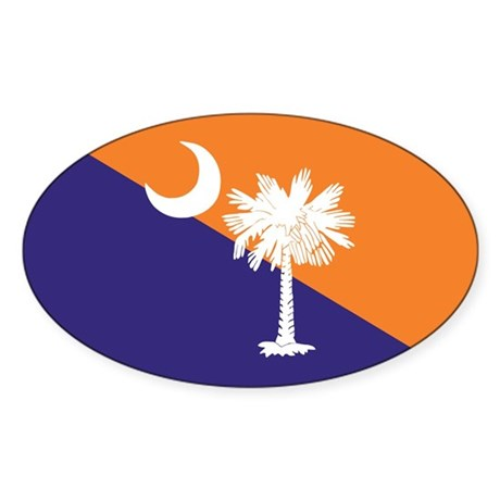 Orange Purple SC Flag Oval Sticker (10 pk)