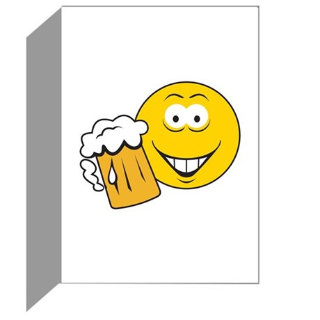 Thirsty Smiley Face Greeting Cards (Pk of 10) by dagerdesigns