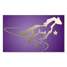 Wishes for Horses Rectangle Decal