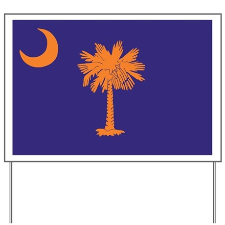 Orange and Purple SC Flag Yard Sign