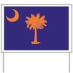 Orange and Purple SC Flag Yard Sign