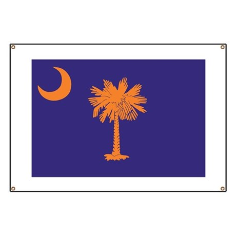 Orange and Purple SC Flag Banner