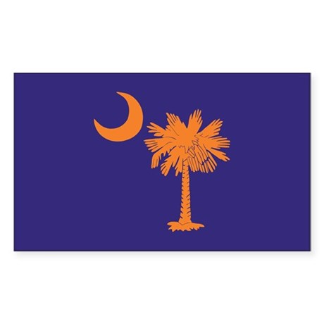 Orange and Purple SC Flag Rectangle Sticker 50 pk