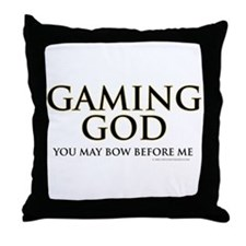 Gaming God Throw Pillow