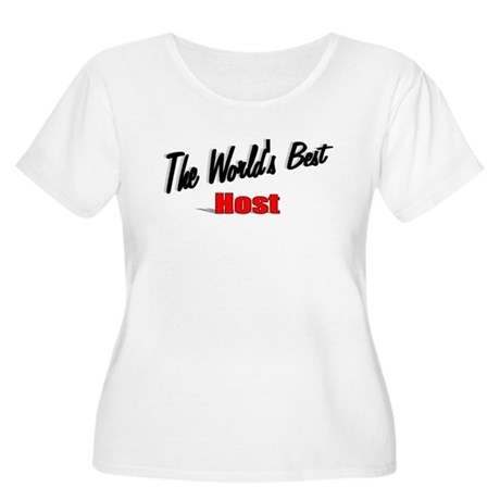 """The World's Best Host"" Women's Plus Size Scoop Ne"