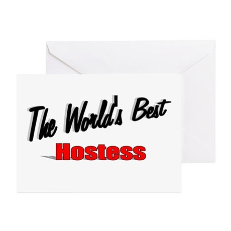 """The World's Best Hostess"" Greeting Cards (Pk of 2"