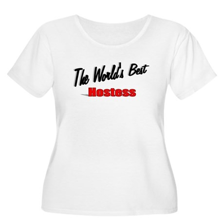 """The World's Best Hostess"" Women's Plus Size Scoop"