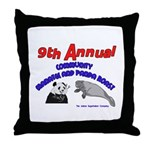 Panda Manatee Roast Throw Pillow