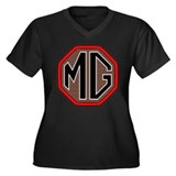 MG T-Shirt Women's Plus Size V-Neck Dark