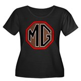 MG T-Shirt Women's Plus Size Scoop Neck Dark
