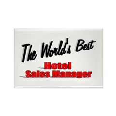 """The World's Best Hotel Sales Manager"" Rectangle M"
