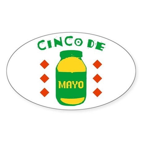 Cinco De Mayo Oval Sticker