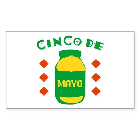 Cinco De Mayo Rectangle Sticker