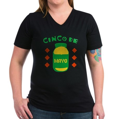 Cinco De Mayo Womens V-Neck T-Shirt