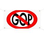 Red Slash Through GOP Banner