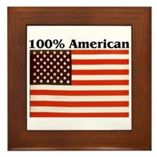 100% American Framed Tile