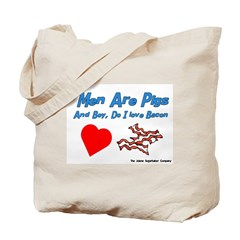 Men are Pigs And Boy Do I Lov Tote Bag