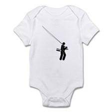 """Salty Fly Rodder"" Infant Bodysuit"