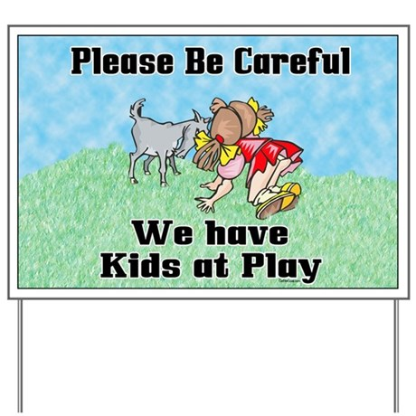 Kids at Play Yard Sign