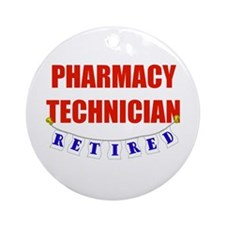 Retired Pharmacy Technician Ornament (Round)