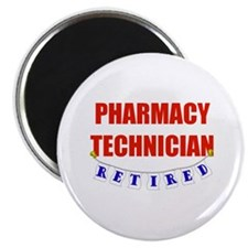 "Retired Pharmacy Technician 2.25"" Magnet (10 pack)"