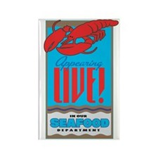 Live Lobster Rectangle Magnet