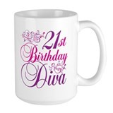 21st Birthday Diva Coffee Mug