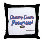 Casting Couch Pontential Throw Pillow