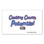 Casting Couch Pontential Rectangle Sticker