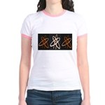 ATHEIST ORANGE Jr. Ringer T-Shirt