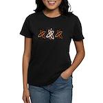 ATHEIST ORANGE Women's Dark T-Shirt