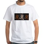 ATHEIST ORANGE White T-Shirt