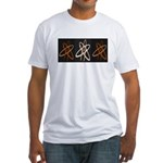 ATHEIST ORANGE Fitted T-Shirt