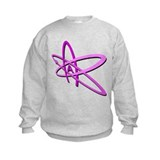 ATHEIST SYMBOL IN PINK Sweatshirt